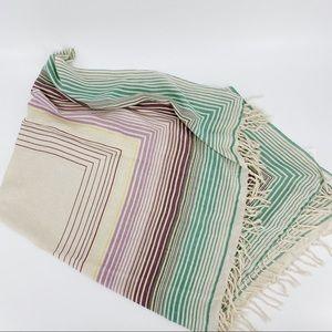 Aritzia Wilfred 100% silk scarf multi color pastel